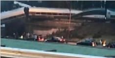 美国华盛顿州一客运列车脱轨砸中汽车 已致6人死亡