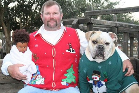 动物过圣诞节被宠上天际