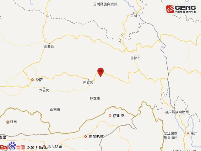 西藏林芝发生5.0级地震,震源深度6千米
