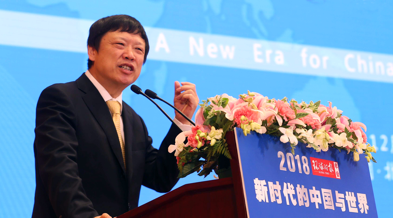 胡锡进寄语环球网十周年
