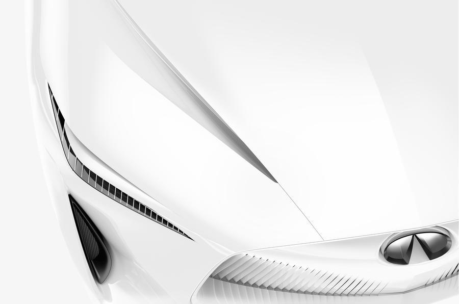 英菲尼迪全新电动概念车预告图发布 明年1月亮相