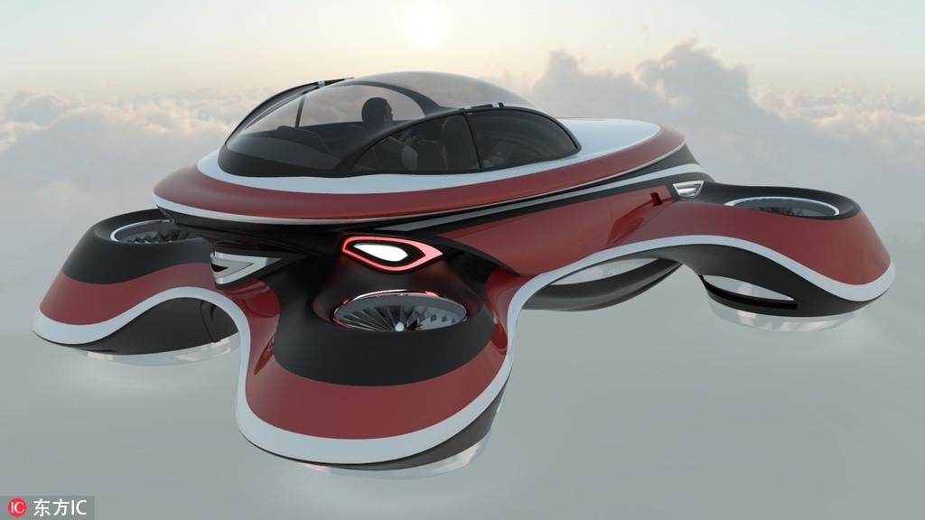 劳斯莱斯经典跑车被改成飞行汽车 未来感十足超酷炫