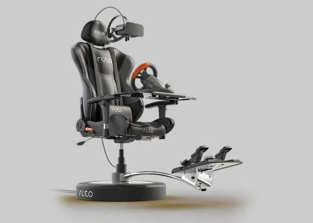 VR玩家必备游戏座椅:能跟着游戏场景一起转
