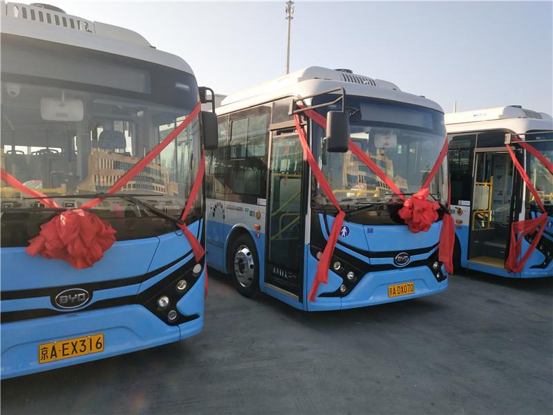 落户通州 比亚迪350辆纯电动公交车交车仪式