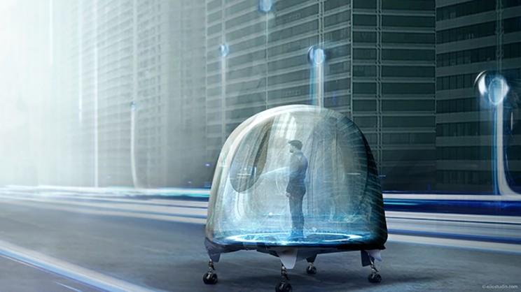 能想象吗?未来车不仅可在路上行驶 还可以爬楼