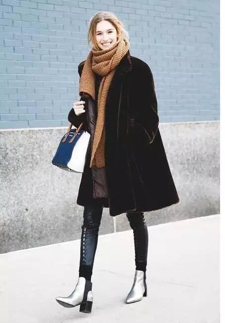 日常围巾系法男士围巾的简单系法时尚 帅气 个性