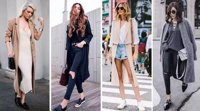 长外套+平底鞋=秋冬最简约高级的时髦混搭风!!