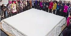 世界最大豆腐江西诞生:长宽近4米 耗3500多斤黄豆