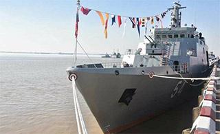 缅甸海军成立70周年庆典重点展示国产军舰