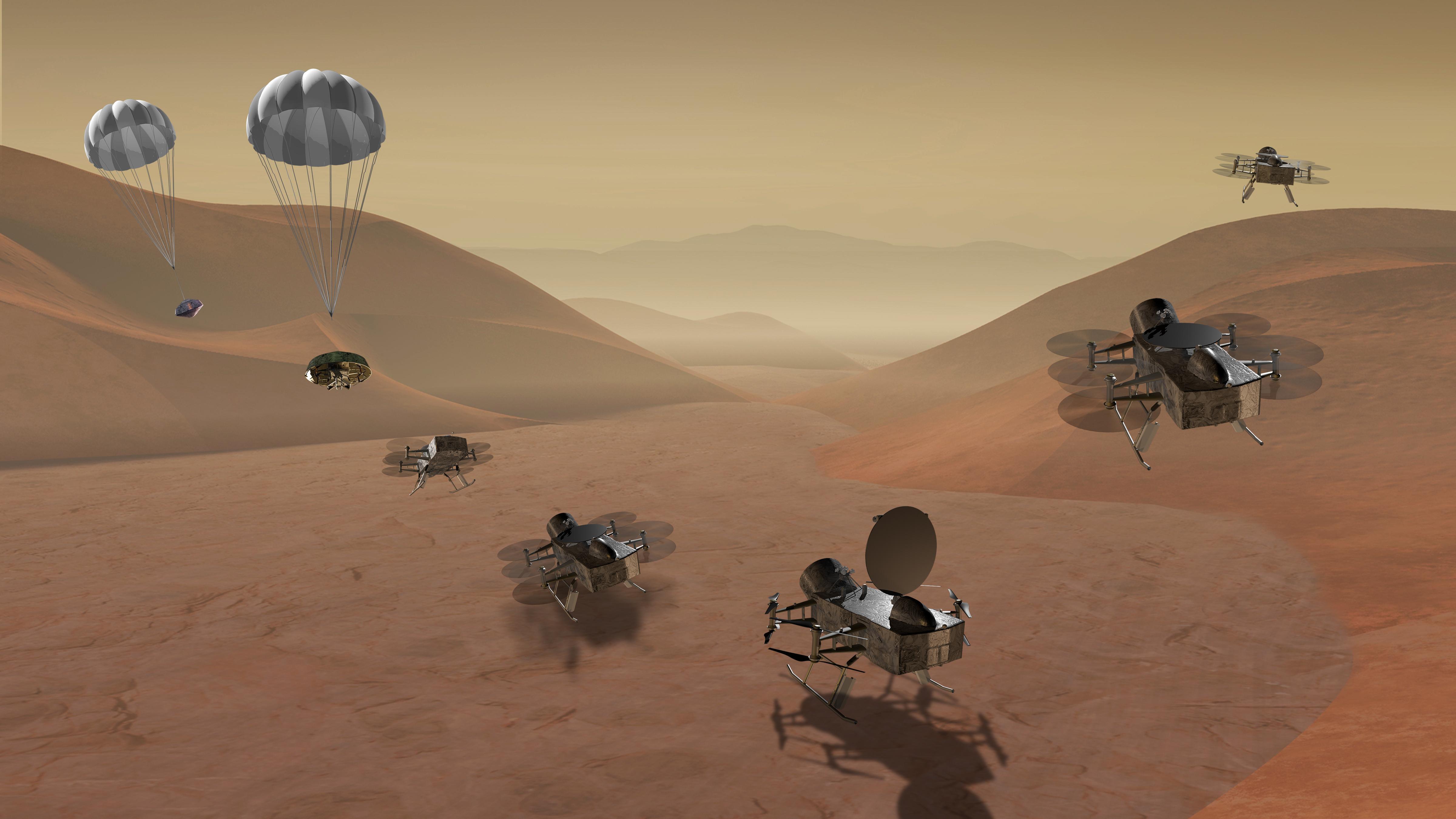 NASA拟发送无人机探索土卫六表面 寻找生命迹象