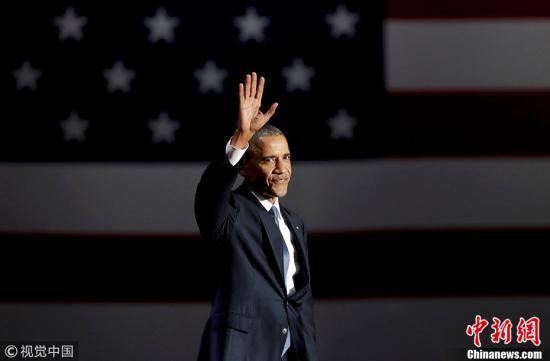 """奥巴马连续十年当选""""全美最受钦佩男性"""""""