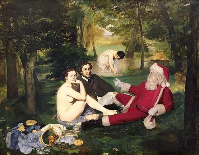 圣诞过完才发现,圣诞老人当年其实是没有帽子的!