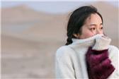 冬季沙漠的小太阳 江一燕曝文艺旅拍大片