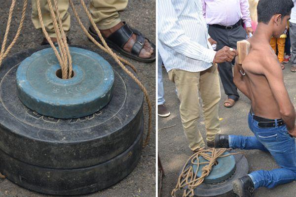 印度大力少年再开挂 肩胛骨提起111斤重物创世界记录