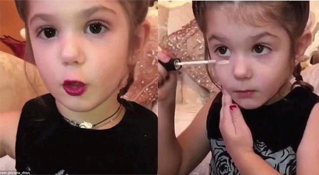 美3岁女童化妆走红网络引网友质疑