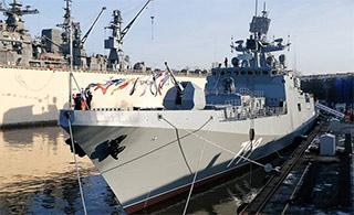 俄最后装乌制发动机护卫舰正式服役
