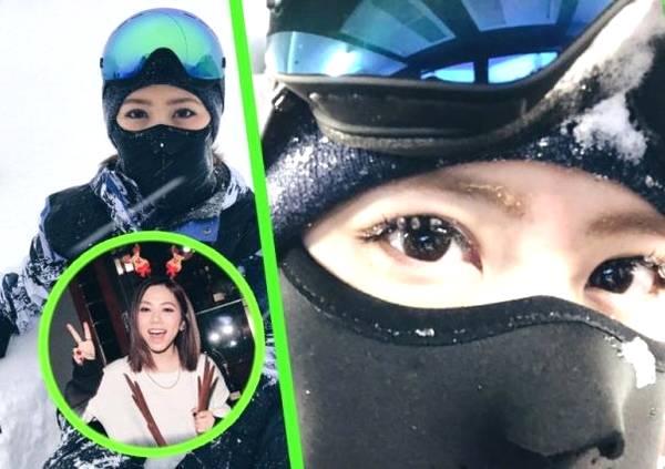 和男友一起?邓紫棋假期滑雪 满眼是笑意