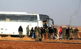 叙反对派武装开始从大马士革撤离