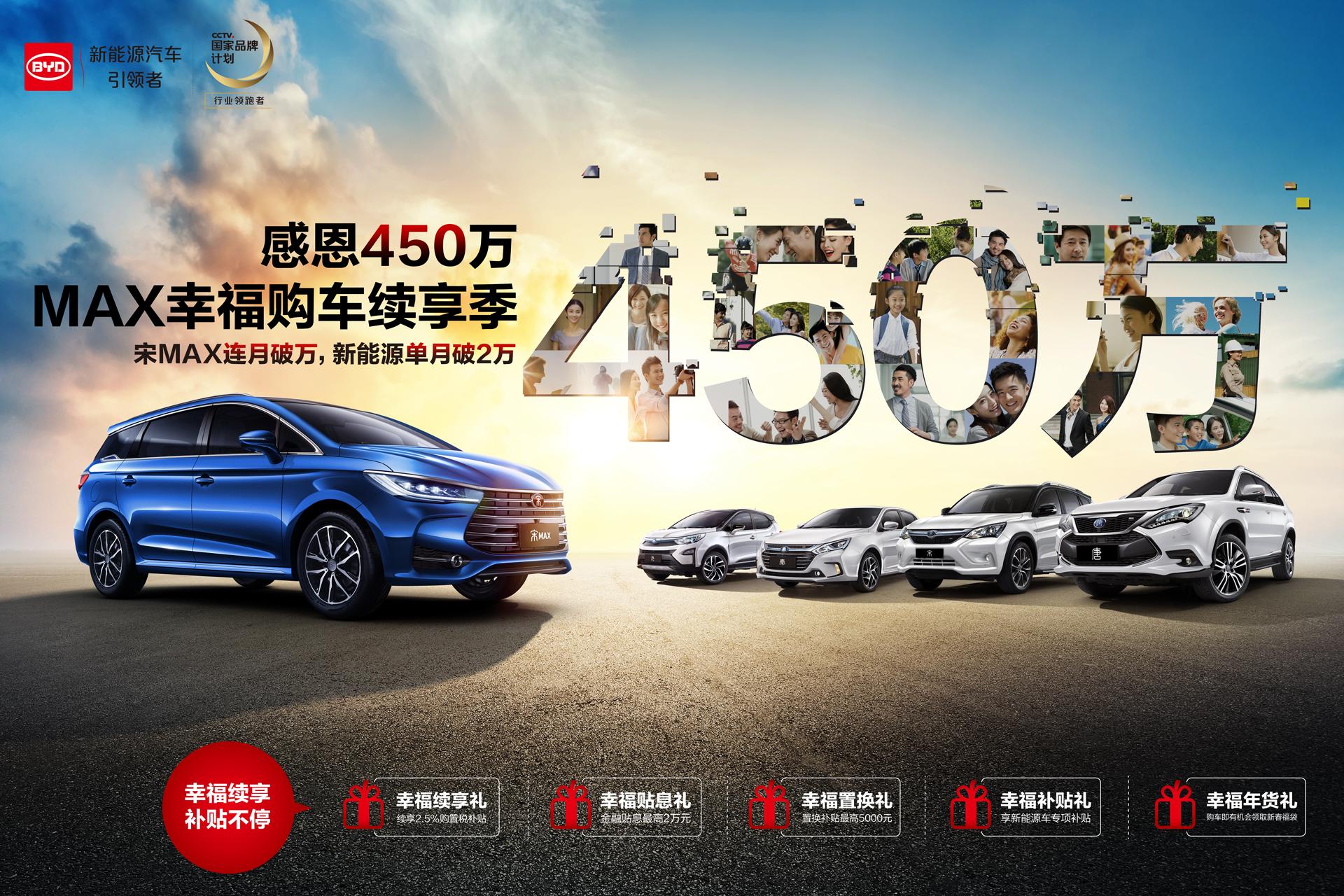 回馈用户支持 比亚迪推出新年购车五重礼