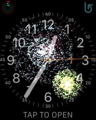 Apple Watch庆祝新年:表盘上看烟花