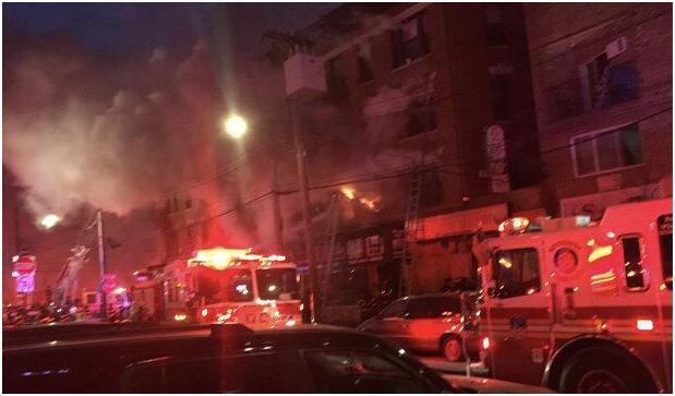 纽约再次发生火灾 已造成至少23人受伤