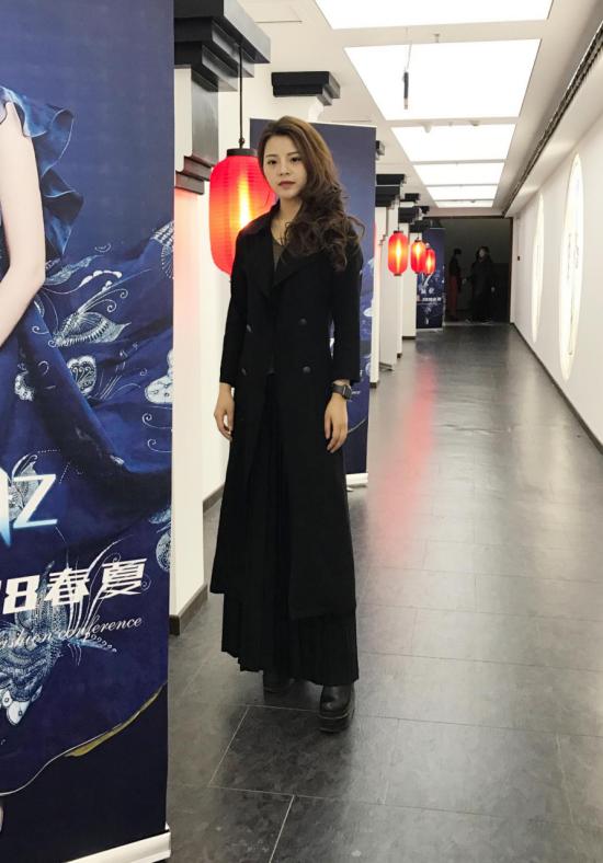 成昊 蓝 忆 2018春秋服装发布会 形象设计师夏小芹出席