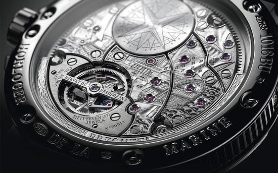 宝玑(Breguet)_Marine航海系列超复杂功能5887腕表,表背