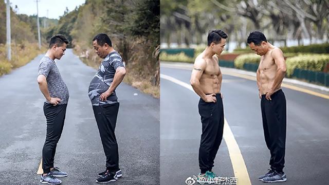 32岁摄影师增肥20斤带着53岁老爸一起减肥