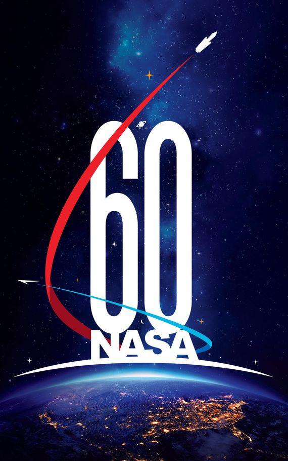 NASA公布60周年logo 宛如科幻大片海报