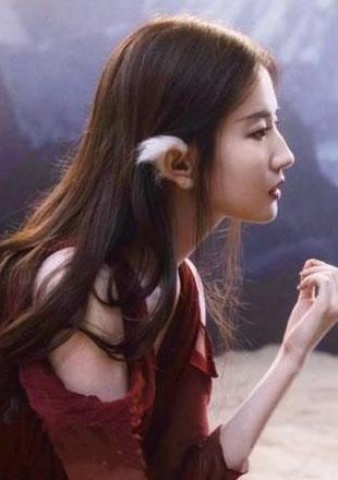 """""""仙女卷""""刘亦菲和猫咪比美"""