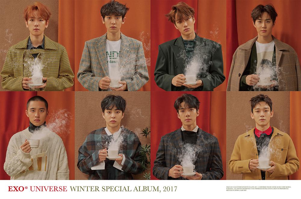 EXO冬季特别专辑《Universe》席卷专辑综合榜单