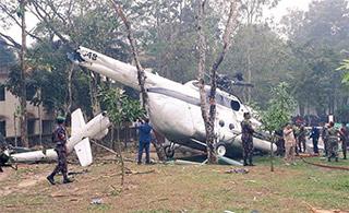 孟加拉直升机坠毁 机上科军高级代表团受轻伤