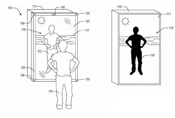 获混合现实镜子专利 亚马逊让用户可虚拟试穿