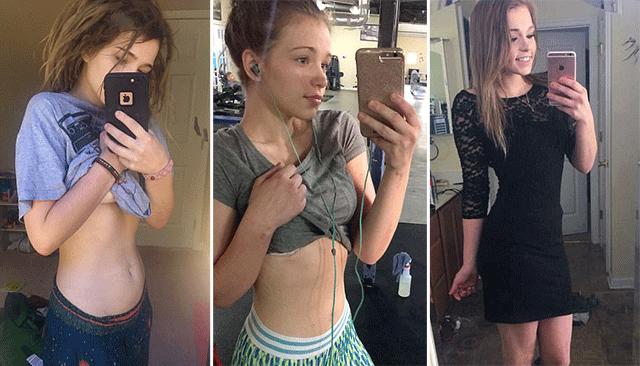 美18岁女子怀孕6月仍小腹平平 称吃素锻炼是秘诀