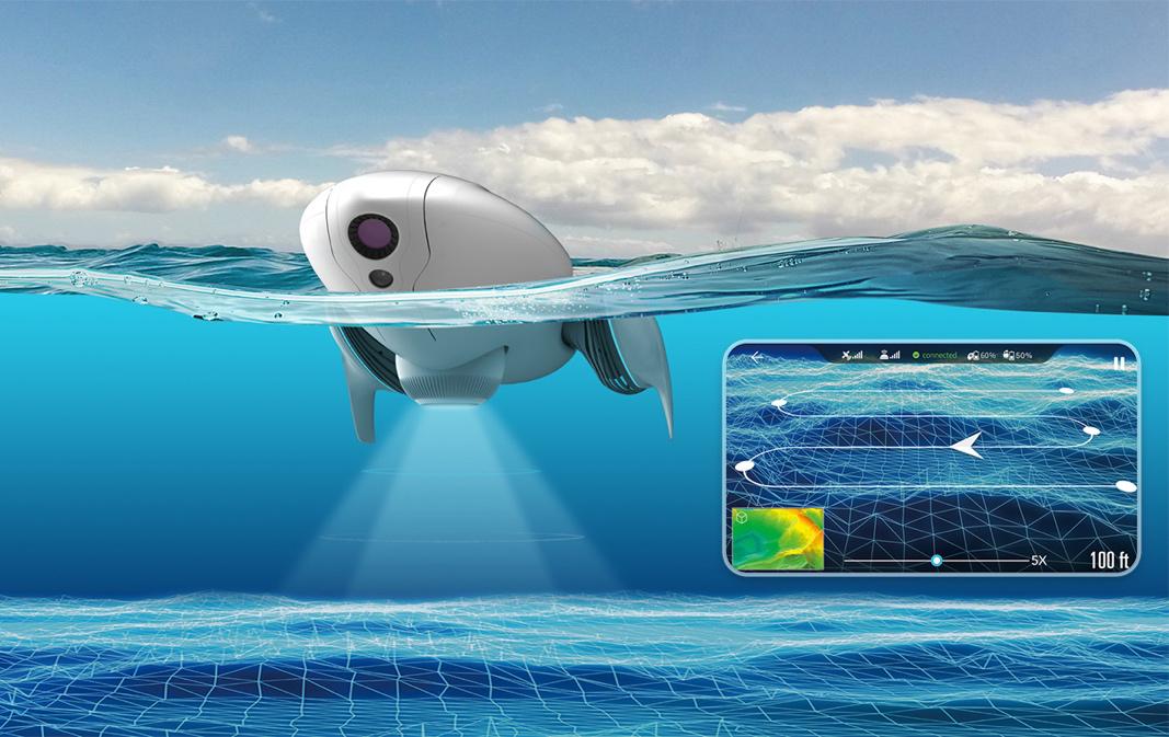 CES2018:臻迪PowerDolphin小海豚亮相 可绘制水下地形图