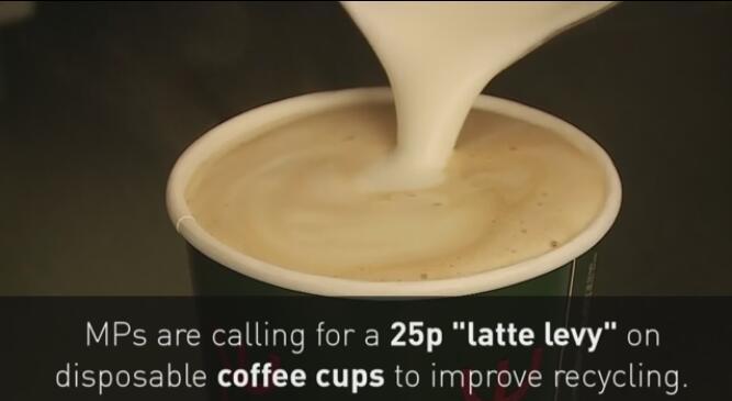 """英国议员吁政府对一次性咖啡杯征收""""咖啡杯税"""""""