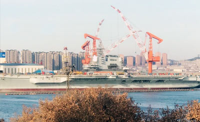 首艘国产航母最新建造进展曝光