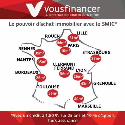 拿最低工资25年 能在法国买多大房