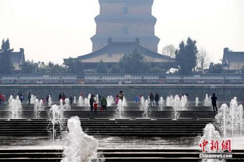中国侨网资料图:陕西西安大雁塔。中新社记者 张远 摄