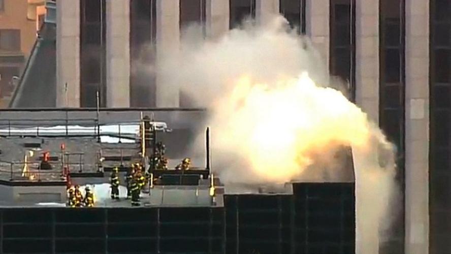纽约市中心特朗普大厦起火 暂无伤亡报告(图)