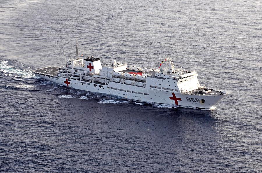 """和平方舟环非凯旋,被誉为最强的""""软实力军舰"""""""