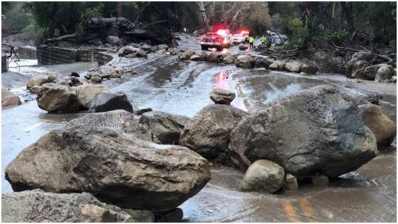 美国加利福尼亚发生泥石流 造成至少13人死亡