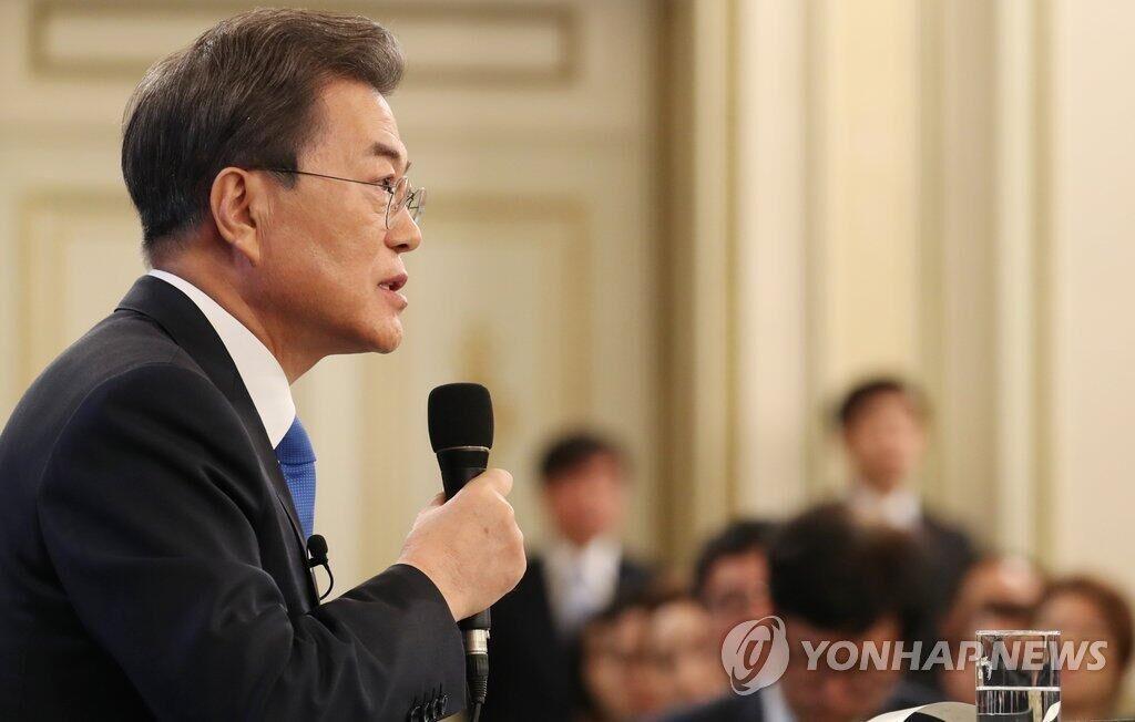 文在寅:如果条件成熟,随时可进行朝韩首脑对话