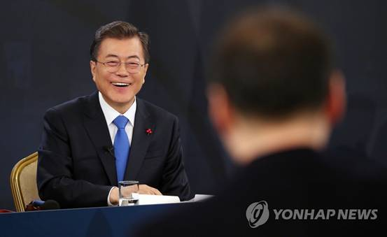 文在寅:没打算单方面放宽对朝制裁 感谢特朗普对朝韩对话贡献