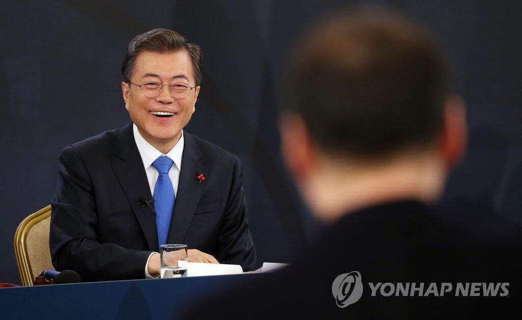 文在寅高度评价朝鲜派团参奥 称希望再次举行对话