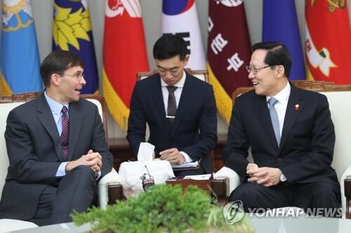 韩防长会晤美陆军部长 磋商朝核等国防议题