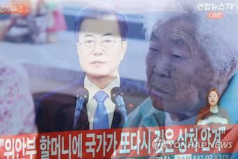 日本政府对文在寅慰安妇发言表示抗议:无法接受