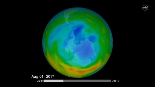 臭氧层空洞缩小20%  NASA:化学禁令的功劳