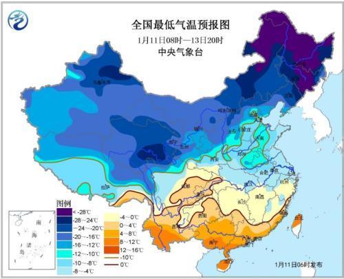东部仍有4~5级偏北风 黄淮中西部等地降温4~6℃