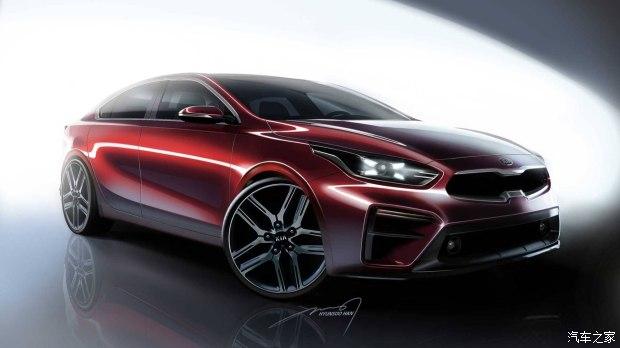 将于北美车展首发 起亚全新Forte预告图